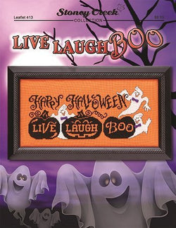 Stoney Creek Live Laugh Boo LFT413 halloween cross stitch booklet
