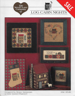 Need'l Love Company Log Cabin Nights cross stitch pattern