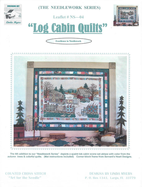 Linda Myers Log Cabin Quilts amish cross stitch pattern