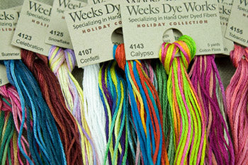 Weeks Dye Works Floss (Rum Raisin-Wisteria)