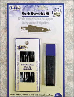 LoRan Needle Necessities Kit cross stitch magnetic case threader