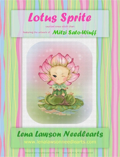 Lena Lawson Lotus Sprite cross stitch pattern