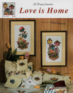 Design Connection Love is home bird house cross stitch pattern