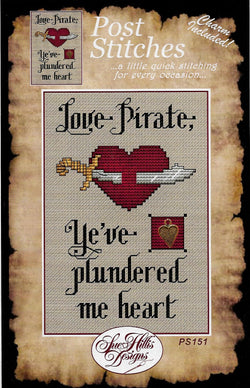 Sue Hillis Love Pirate PS151 cross stitch pattern