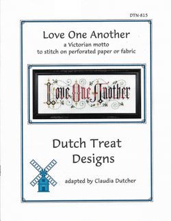 Dutch Treat Designs Love One Another cross stitch pattern