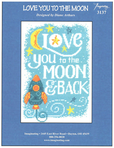 Imaginating Love you to the moon 3137 cross stitch pattern