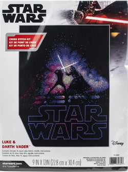 Dimensions Luke and Darth vader Star Wars cross stitch kit
