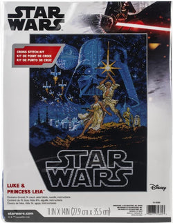 Diminsions Star Wars Luke & Leia cross stitch kit