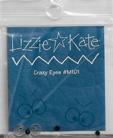 Lizzie Kate Crazy Eyes M101 button pack cross stitch