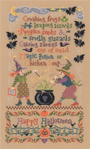 Imaginating Magic Potion 1890 halloween cross stitch pattern