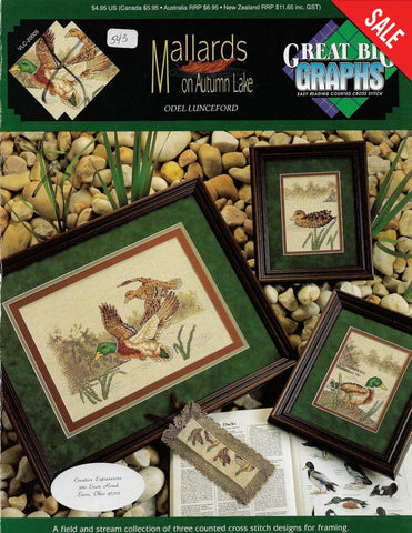 Great Big Graphics Mallards on Autumn Lake VLC-2005 cross stitch pattern