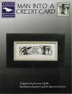 Twisted Threads Man into a credit card cross stitch pattern