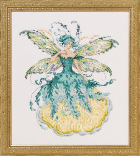 Mirabilia March Aquamarine Fairy MD139 victorian pixies cross stitch