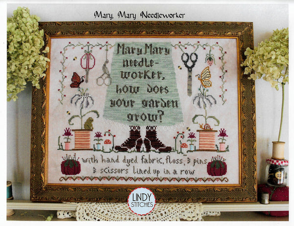 Lindy Stitches Mary, Mary Needleworker cross stitch pattern