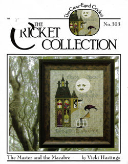 Cricket The Master and the Macabre CC303 cross stitch pattern