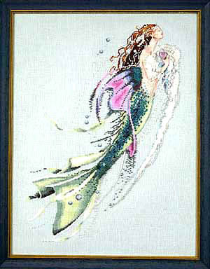 Mirabilia Mermaid of the Pearls MD26 victorian mermaid cross stitch pattern