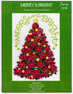 Imaginating Merry & Bright Christmas Tree cross stitch pattern