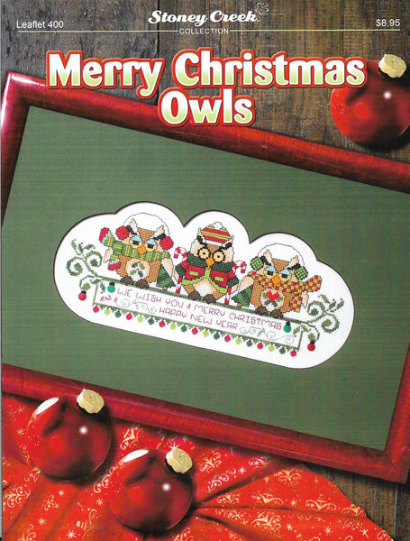 Stoney Creek Merry Christmas Owls LFT400 cross stitch pattern