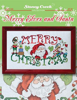 Stoney Creek Merry Elves and Santa LFT346 cross stitch pattern