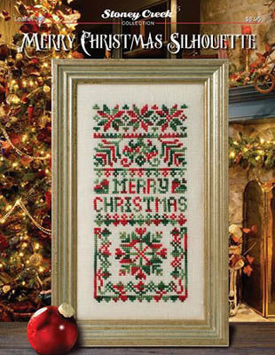 Stoney Creek Merry Christmas Silhouette LFT395 cross stitch pattern