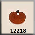 Mill Hill 12218 Petite Pumpkin - Matte Orange Crystal Treasures cross stitch