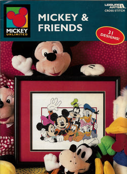 Leisure Arts Mickey & Friends cross stitch pattern