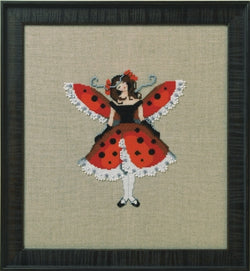 Mirabilia Miss Ladybug victorian cross stitch