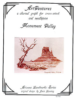 Art Ventures Monument Valley cross stitch pattern