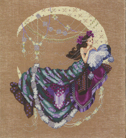Mirabilia Moon FlowersNora Corbett MD-137 cross stitch pattern