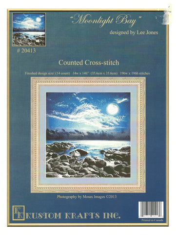 Kustom Krafts Moonlight Bay 20413 cross stitch pattern