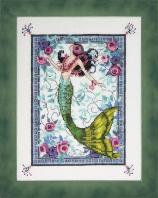 Mirabilia Angel Moonlight Laguna Mermaid NC285 victorian cross stitch