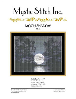 Mystic stitch Moon shadow cross stitch pattern