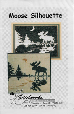 Stitchworks Moose Silhouette cross stitch pattern