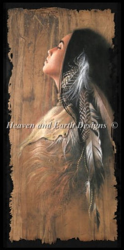 Heaven and Earth designs Morning Sun native american cross stitch pattern