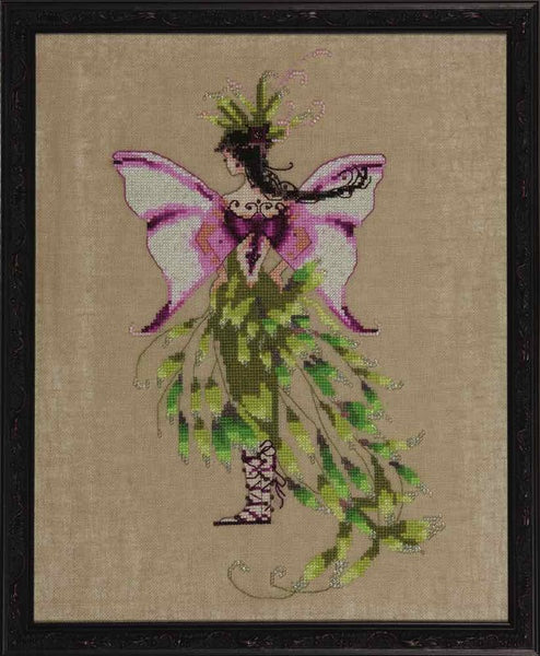 Mirabilia Moss Collector NC218 Black Forest Pixie victorian cross stitch