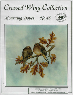 Crossed Wings Collection Mourning Doves cross stitch pattern