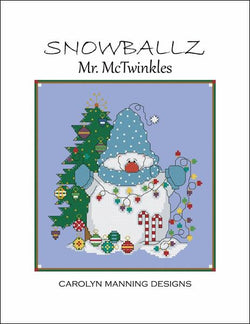 Carolyn Manning Mr. McTwinkles Christmas snowman cross stitch pattern
