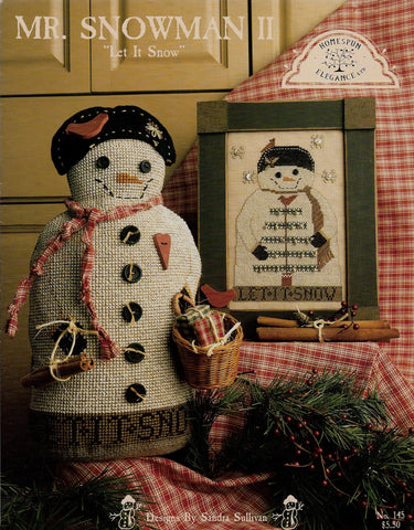 Homespun Elegance Mr. Snowman II cross stitch pattern