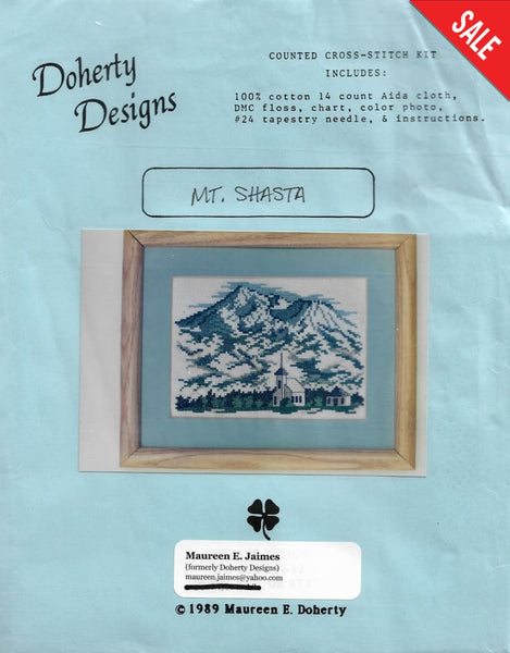 Doherty Designs Mt. Shasta cross stitch kit