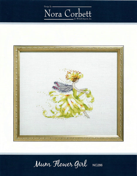 Nora Corbett Mum Flower Girl NC286 cross stitch pattern