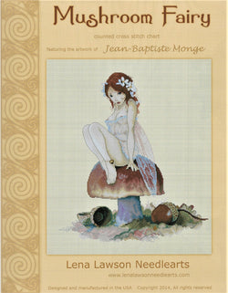 Lena Lawson Mushroom Fairy by Jean-Baptiste Monge cross stitch pattern