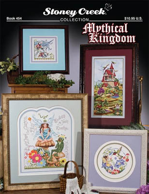 Stoney Creek Mythical Kingdom BK454cross stitch pattern unicorn fairy castle frog humingbird