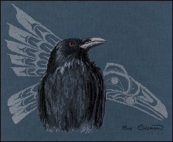 The Stitching Studio Native Raven cross stitch pattern
