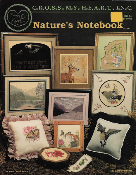 Cross My Heart Nature's Notebook CSB-54 animal cross stitch pattern