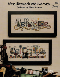 Imagination Needlework Welcomes cross stitch pattern