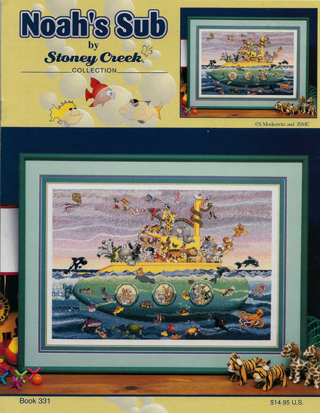 Stoney Creek BK331 Noah's Sub cross stitch pattern