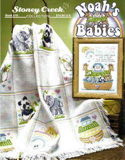 Stoney Creek Noah's Babies BK519 baby sampler cross stitch booklet