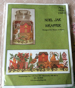 Imaginating Noel Jar Wrapper cross stitch kit