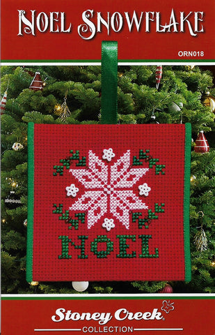 Stoney Creek Noel Snowflake ORN018 christmas ornament cross stitch pattern