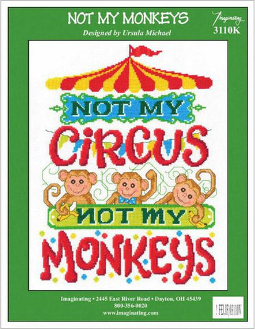 Imaginating Not My Monkeys 3110 cross stitch pattern